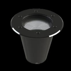 EMBUTIDO LED REDONDO SOLO 12W IP67 30° JET BLACK 2700K SAVE ENERGY