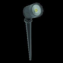 LUMINARIA LED JARDIM 6W FINCO 30° IP67 500LM 2700K INTERLIGHT