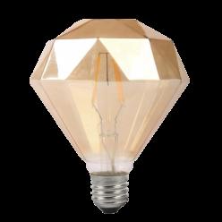 LAMPADA FILAMENTO LED 8W G95 AMBAR - 2300K (DIAMANTE)