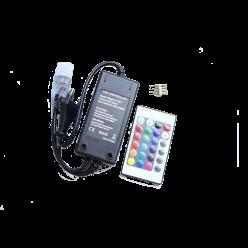CONECTOR PLUG RGB 5050 C/ CENTRAL CONTROLE FITA LED 220V