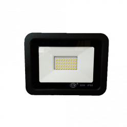 REFLETOR LED 30W PRETO - BRANCO FRIO