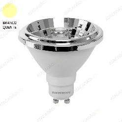 LAMPADA LED AR70 DIMERIZAVEL 8W 525LM 12° IRC>90 GU10 2700K SAVE ENERGY