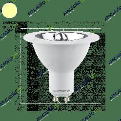 LAMPADA LED AR70 4,8W 350LM 24° GU10 2700K