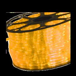 MANGUEIRA LED 220V (REDONDO) 1M - AMARELO AMBAR