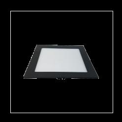 PAINEL LED 18W EMBUTIR QUADRADO JET BLACK 5700K