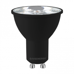 LAMPADA LED GU10 6W 10º MR16 360LM IRC >90 BLACK EDITION - 2700K
