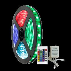KIT FITA LED 12V 14,4W/M (5050) RGB + CENTRAL E CONTROLE