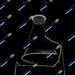 PENDENTE CIRCULAR S 33W LED 3000K PRETO PEND-LC12P-33BQ INITIAL