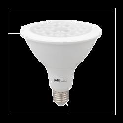 LAMPADA LED PAR38 18W 30° 1530LM 3000K MBLED