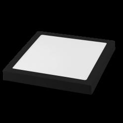 PLAFON LED 20W SOBREPOR QUADRADO JET BLACK 5700K