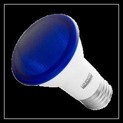 LAMPADA LED PAR20 6W E27 - AZUL LUMINATTI