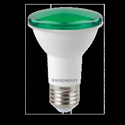 LAMPADA LED PAR20 7W 470LM VERDE SAVE ENERGY