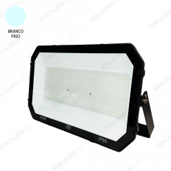 REFLETOR MICRO LED SMD 100W PRETO  BRANCO FRIO