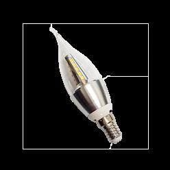 LAMPADA VELA 4W TRANSPARENTE BICO TORTO E14 BR FRIO