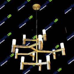 PENDENTE CROWN 75x45CM 12xG9 BRONZE ANTIGO MD21350-12-AB